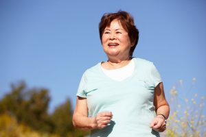 42109787 - senior woman jogging